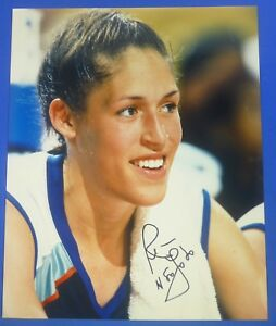 REBECCA-LOBO-HOF-autograph-signed-8x10-photo-Connecticut-New-York-Liberty
