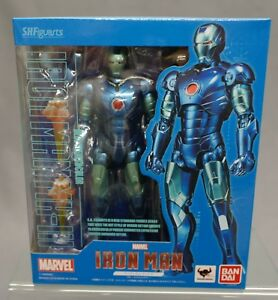 SH-S-H-Figuarts-Iron-Man-Mark-3-Blue-Stealth-Color-Bandai-Tamashii-Limited-NEW