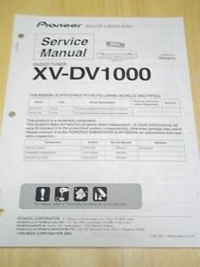 pioneer service manual xv dv1000 dvd cd tuner original repair ebay rh ebay com sony mex dv1000 service manual hp dv1000 service manual