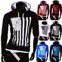 ZAHIDA Herren Damen Kapuzen Pullover Sweatshirt Hoodie T-Shirt USA Amerika NEU