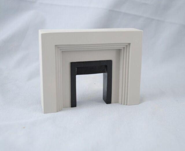 Fireplace Tudor Modern Style 4049 Miniature Dollhouse Furniture 1 12 Scale
