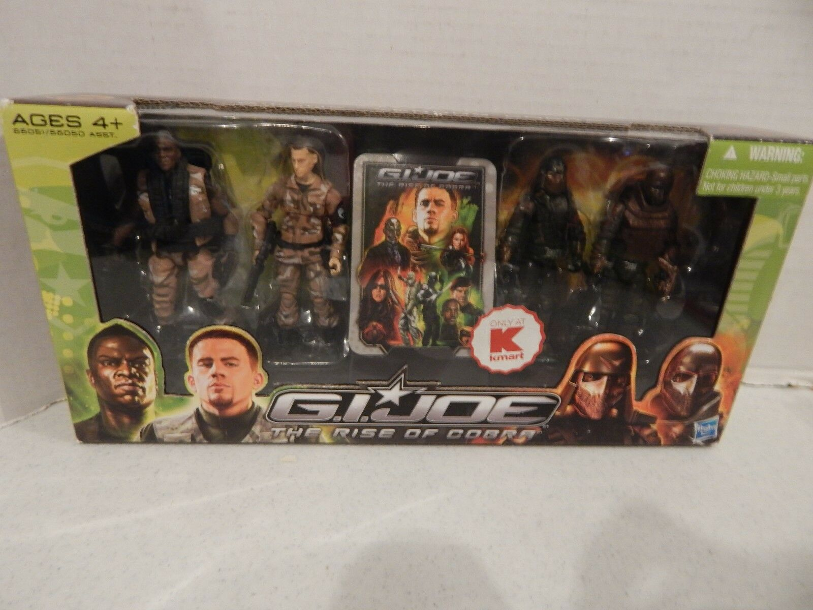 GI JOE  2009 KMART 4 PK  DUKE, HEAVY DUTY,NEO VIPER & MARS TROOPER MISB MOC