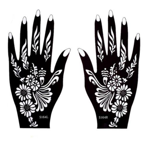 Henna Schablone Tattoo Sticker Kina Dövme Hand Links Rechts Stencil Airbrush