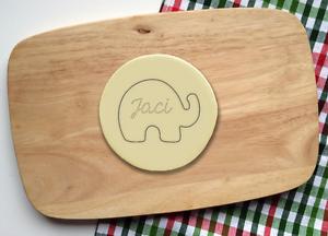 Personnalisé éléphant nom Cookie Cutter tout nom Bébé Enfant Baby Shower cadeau