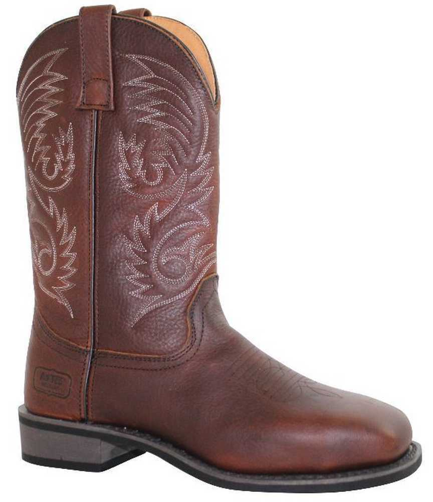 AdTec Men's 11  Western Pull On Square Steel Toe Leather Work Boot 9555