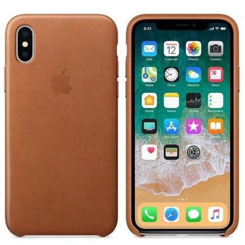 new product d3755 150cb Apple iPhone X Leather Case - Saddle Brown