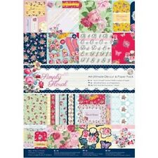 DOCRAFTS PAPERMANIA SIMPLY FLORAL ULTIMATE A4 DIE CUT & PAPER PACK