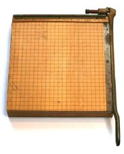 Vintage Guillotine Paper Cutter Ingento No 4 Wooden 12x12 Arts Crafts Heavy Duty
