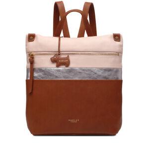 0cbae722635 Image is loading Radley-London-Kensal-Stripe-Medium-Zip-Top-Backpack-