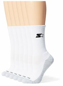 c4e99cdcfedec Details about Starter Women's 6-Pack Athletic Crew Socks Prime Exclusive  White Large Shoe S..
