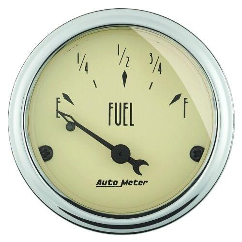 "Auto Meter 1815 2-1//16/"" Fuel Level Gauge 0-90 Ohms Air-Core Antique Beige"