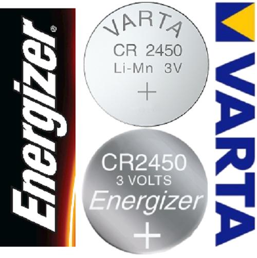 Varta Energizer CR2450 3V Volt NEU Batterien Knopfzellen | Komfort