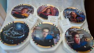 Star-Trek-Deep-Space-Nine-Hamilton-Collection-Plates-Lot-of-6-with-COA-by-Morgan