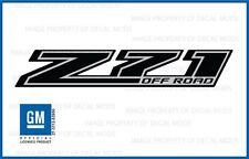 set of 2: 2014 Z71 Off Road Decals - FBLK stickers Parts Chevy Silverado Black
