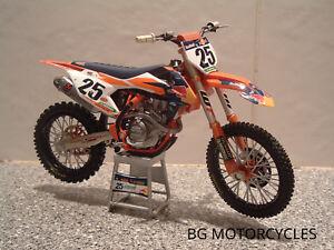 2017 Toy Motocross Bike Model 1 12 Marvin Musquin Red Bull Ktm 25