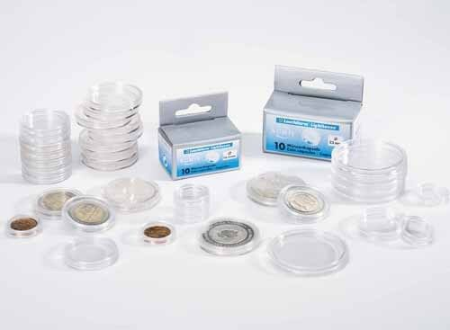 30 Boxed Lighthouse Coin Capsules All Sizes Available 28-41mm