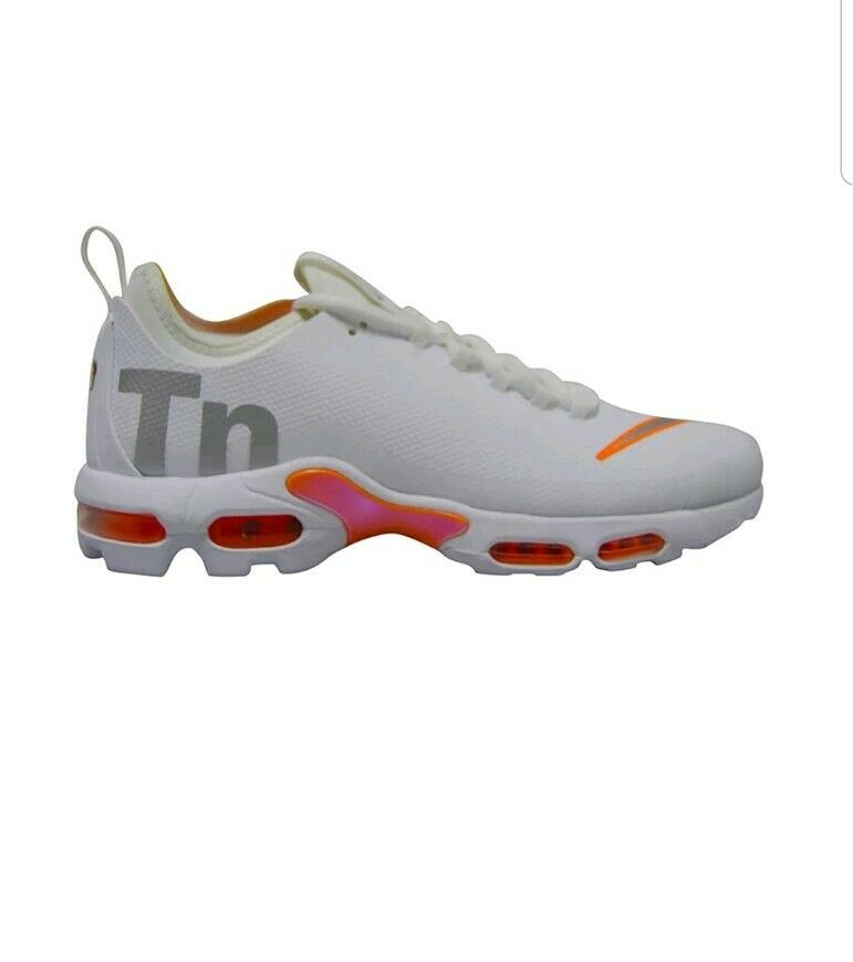 Mens Nike Tuned 1 Air Max Plus TN SE - AQ1088100 - Weiß Silber Trainers UK 11
