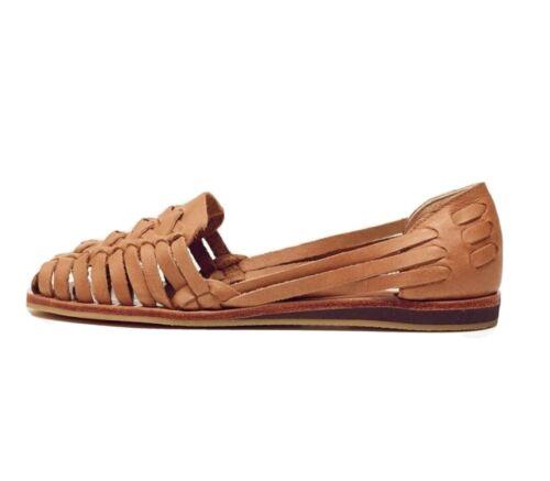 Nisolo Ecuador Huarache Sandals, Almond, 7.5