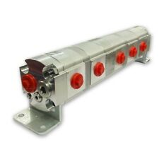 Geared Hydraulic Flow Divider 5 Way Valve 60ccrev With Centre Inlet