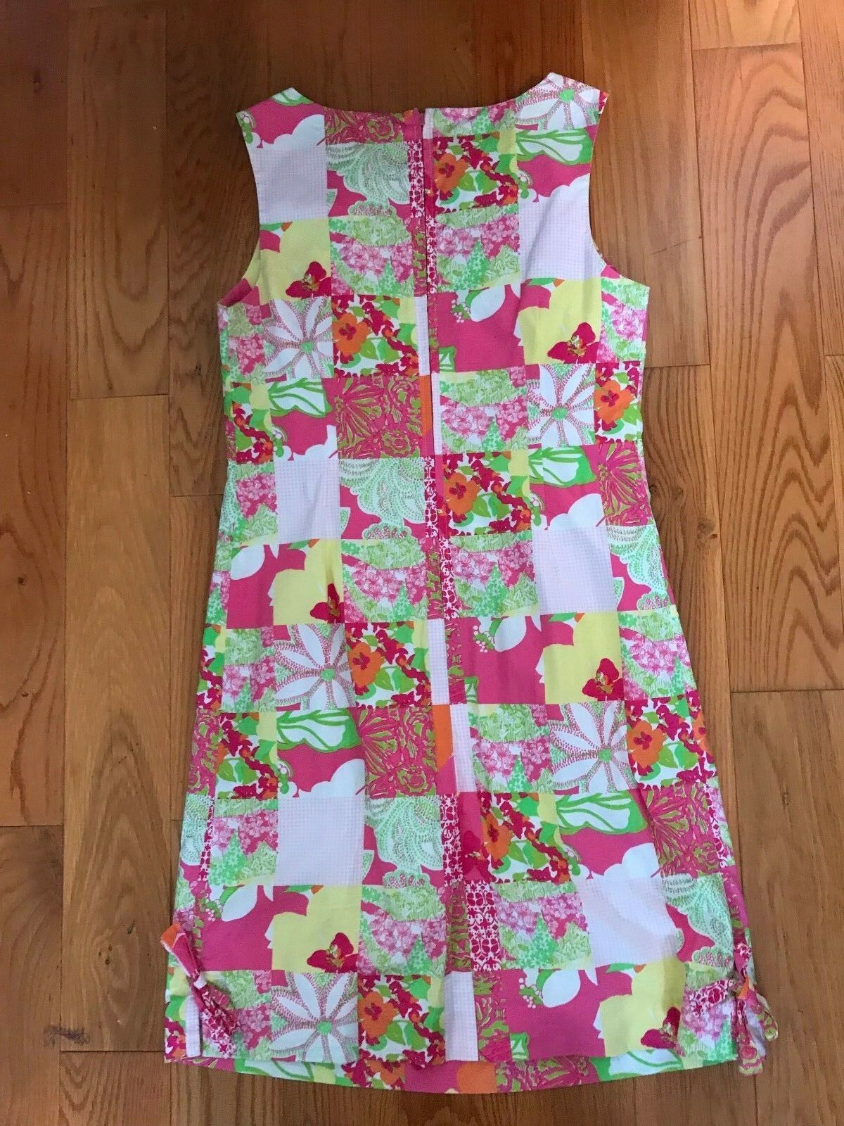 188 LILLY LILLY LILLY PULITZER floral  shift dress, fully lined, 100% cotton, size 4, Small 28f166