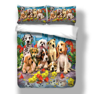 Puppy-Duvet-Cover-Set-for-Comforter-Twin-Full-Queen-King-Size-Bedding-Set