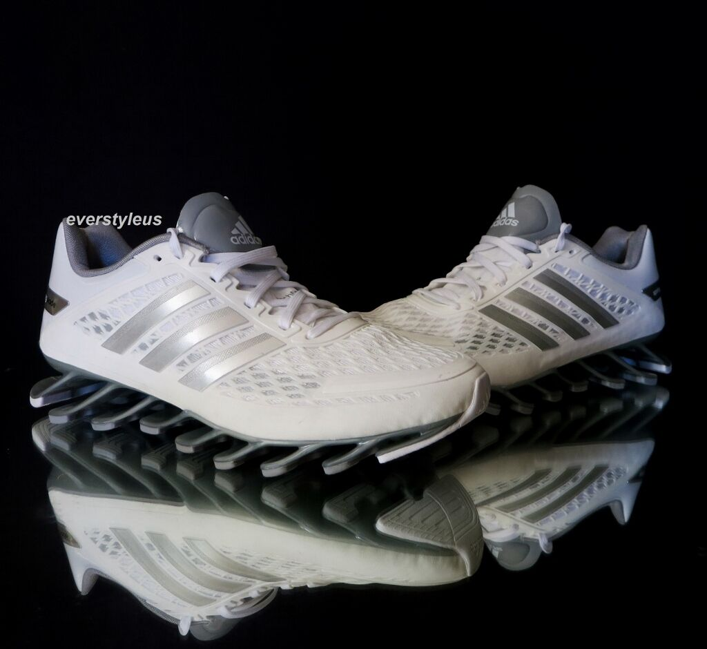 NEW Shoes ADIDAS Springblade Women's/Junior Running Shoes NEW M21922 White/Silver/Grey edc3fa