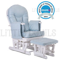 Sereno Natural Wood Or White Nursing Glider Maternity Rocking Chair SRP 299