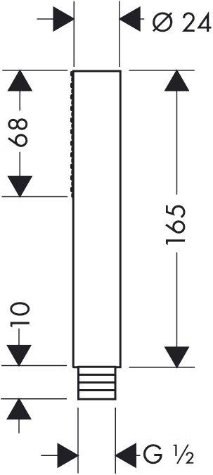 Hansgrohe axor starck bâton douche à main main main 1 jet prise murale 1.25m isiflex tuyau | Bradées  ecb16d
