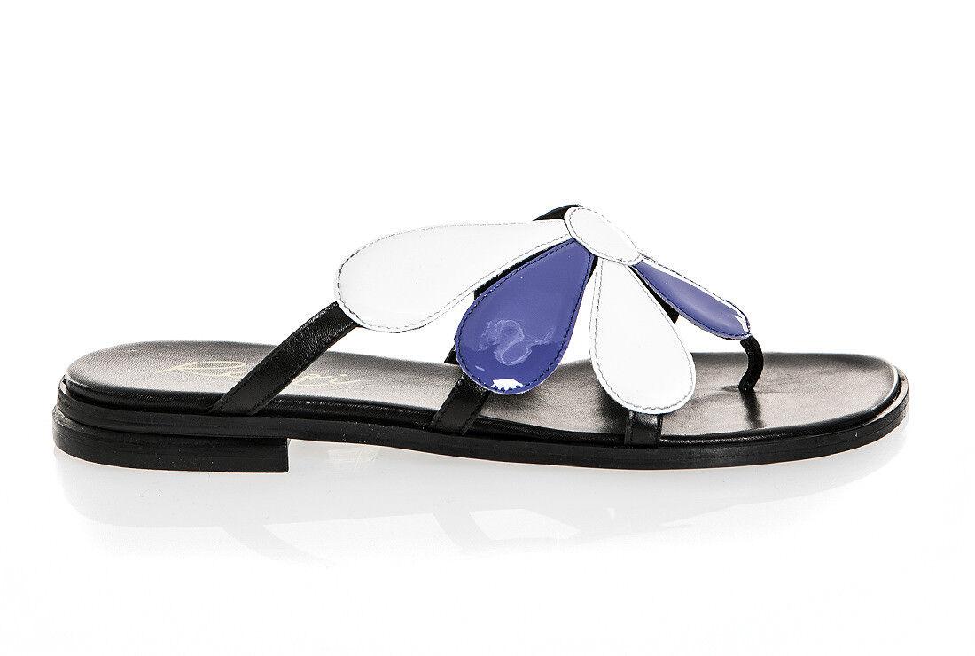 Sandalias de Piel Italiana Auténtica Renzi Cuero Tamaños 6,7,8,9,11 Nuevo