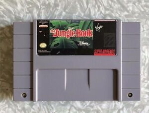 SNES-Disney-039-s-Jungle-Book-Super-Nintendo-Cartridge-Cleaned-amp-Tested-FREE-SHIP