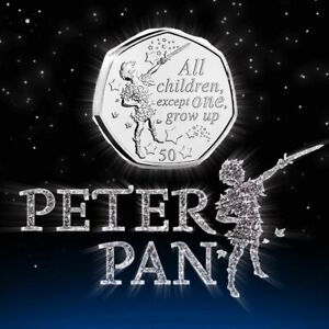 RARE-Worlds-1st-2019-Peter-Pan-50p-Coin-034-All-6-Designs-034-Uncirculated-Coin-Hunt