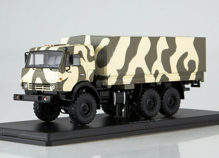 Start Scale Models (SSM) 1 43. KAMAZ - 53501 6x6  MUSTANG . Camouflage  Forest .