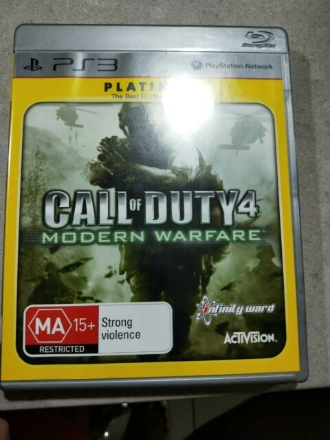 Call Of Duty 4: Modern Warfare Game ( Platinum) for Ps3 - VGC - FREE POST