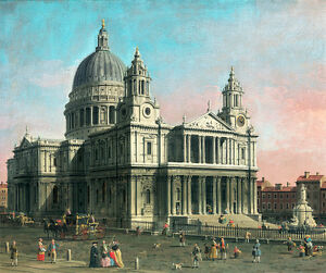 St Pauls Cathedral by Canaletto 75cm x 63cm Canvas Print