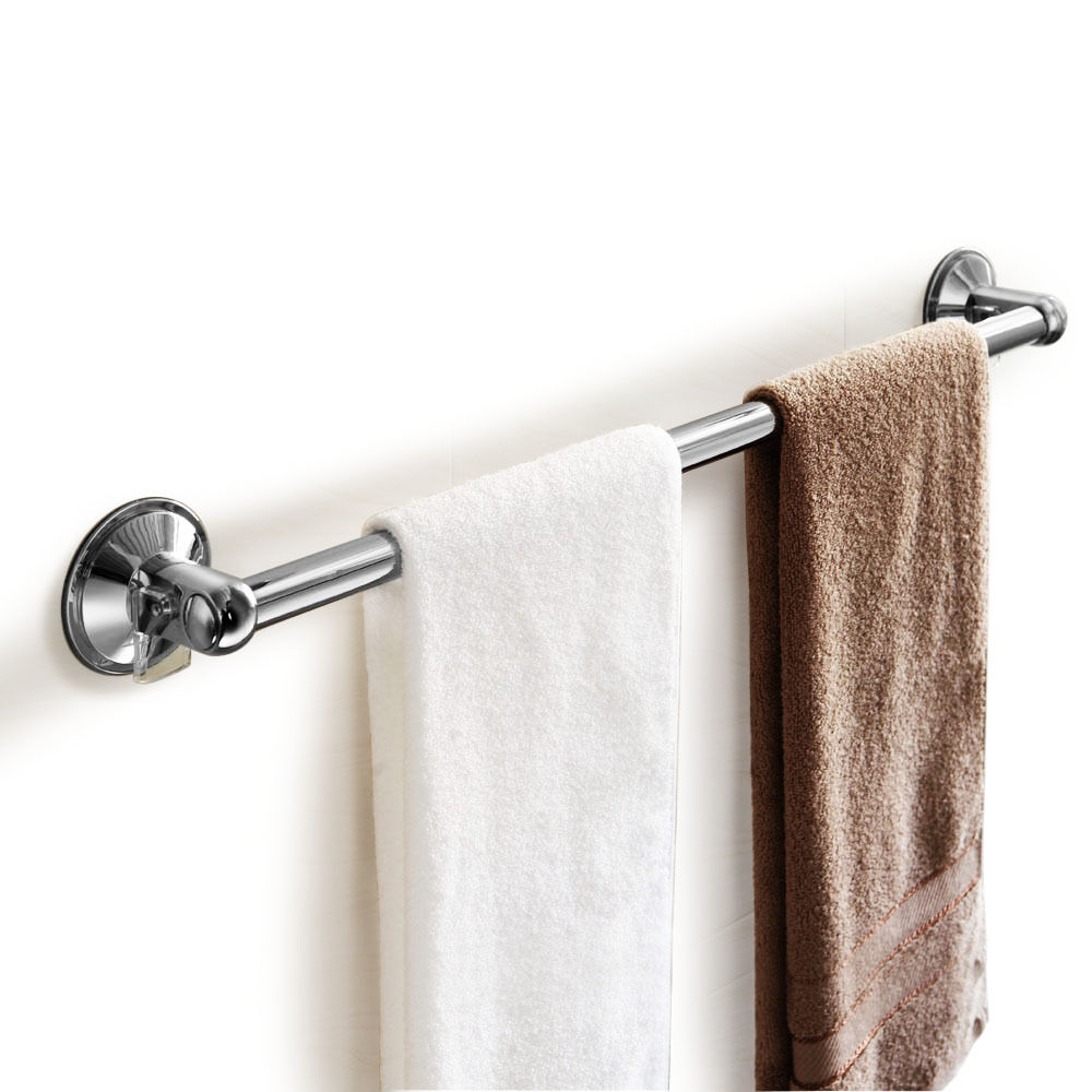 22 Inch Bathroom Towel Bar Rail Wall Mount Suction Cup Holder Stainless Steel