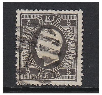 Sg 69 Portugal Perf 12 1/2 Briefmarke 5r 1871 Gebraucht