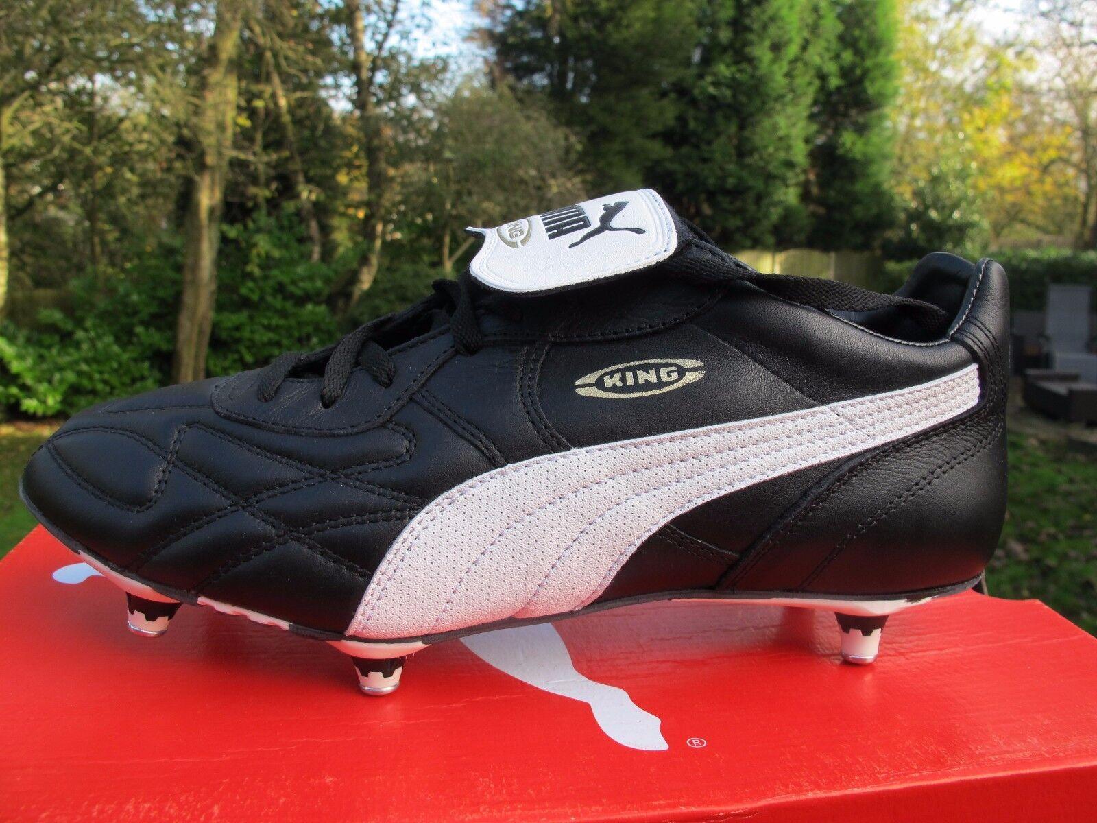 Puma King Pro Sg Adultos botas De Fútbol Negros blancoos Originales 195010 7.5-10 BN