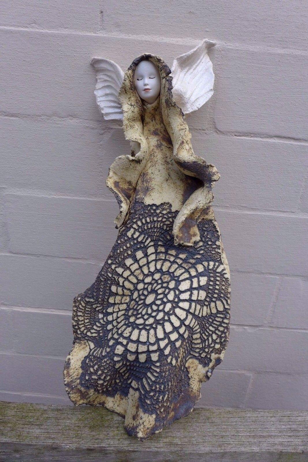 Ceramic Angel hanging hanging hanging art handmade beautiful Farbes farm shop 06-08 8281c1