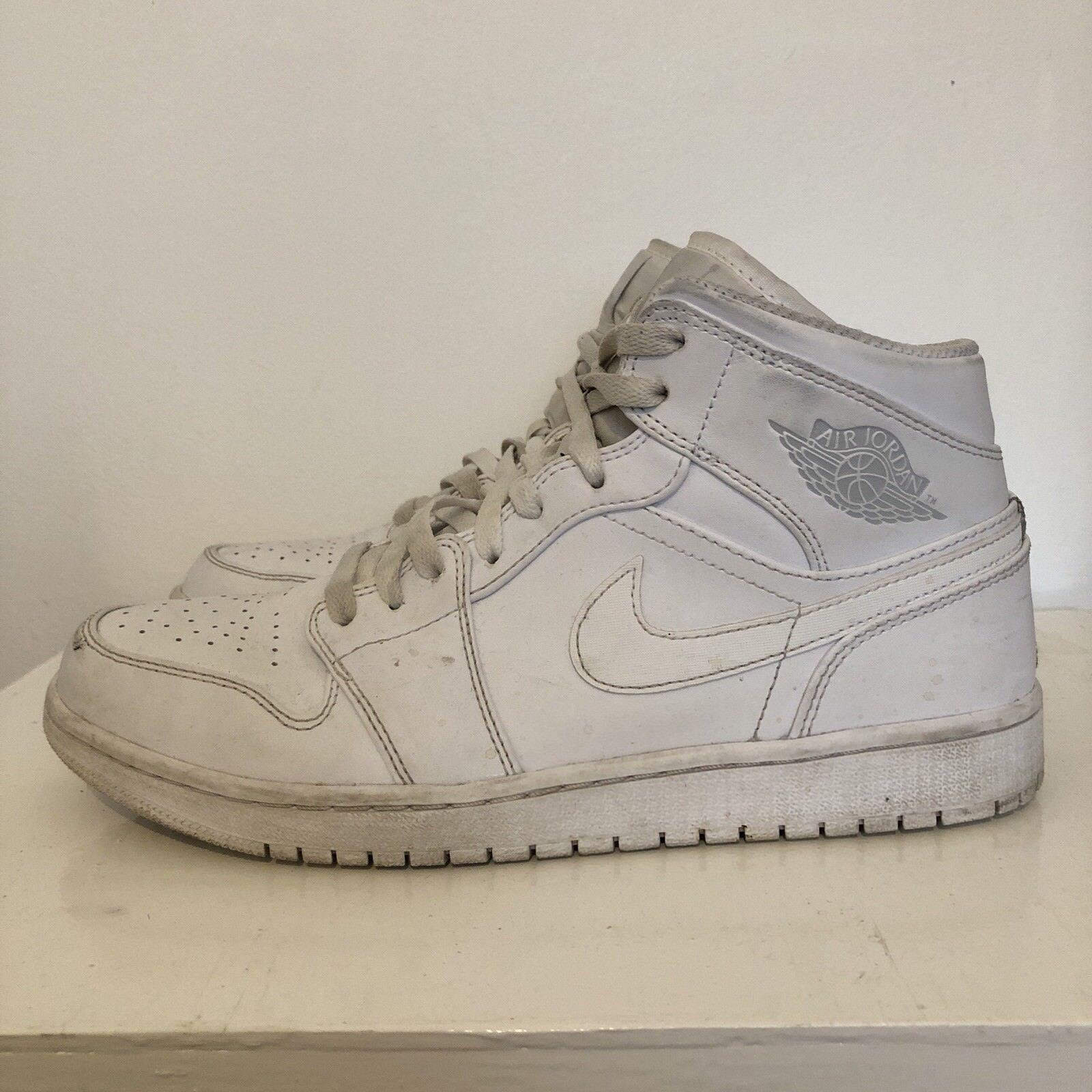 Nike Air Jordan 1 White Size 8.5