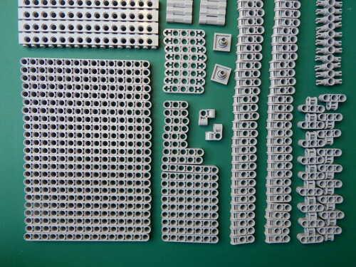 210 New Genuine Light bluish grey Lego Technic Studless beams liftarm connector