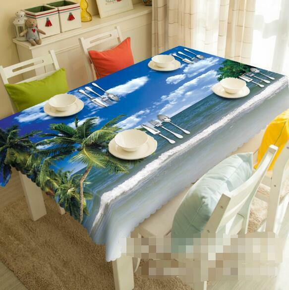 3D Beautiful Sea Tablecloth Table Cover Cloth Birthday Party Event AJ WALLPAPER