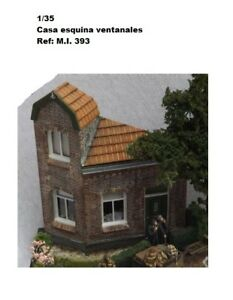 WWII-CASA-PARA-DIORAMA-house-corner-tower-windows-1-35-accessories