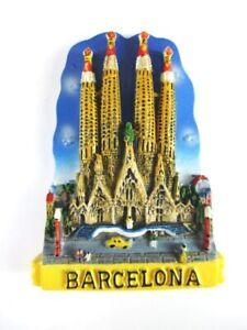 Aimant Barcelone Sagrada Familia Moulés, Souvenir Espagne Spain, Neuf. *-enir Spanien Spain,neu.*fr-fr Afficher Le Titre D'origine