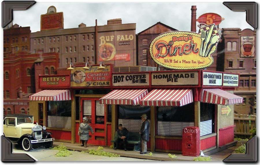 BAR MILLS costruzioneS 302 HO Sweaty Betty's Diner modello Railstradaing Kit