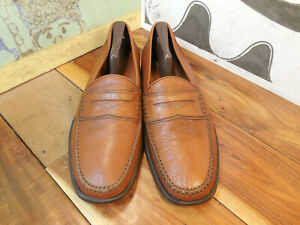 6f75fef8133 Image is loading Alfani-Brown-Leather-Penny-Loafers-Men-039-s-