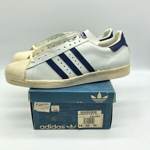 outlet store cb6b1 1255a Details about VERY RARE The Original Adidas Superstar Vintage 70's Made in  France - SIZE 14