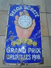 Antique Vintage Sûrete Grand Prix Watches Porcelain Sign 45 inches