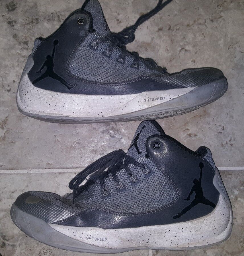 Nike Jordan Rising High 2 Wolf Grey/Black Men's US8.5 GORGEOUS! HARD TO FIND!!! Special limited time