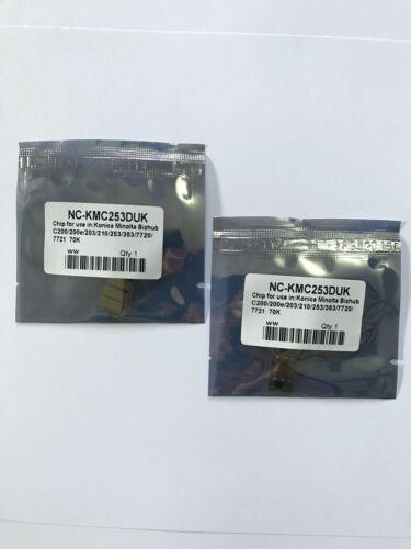 2 x Black Drum Chips For Konica Minolta BIZHUB C200 C203 C210 C253 C353 IU313
