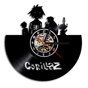 Antique Gorillaz Record Clock Hollow 3d Wall Clock Vinyl